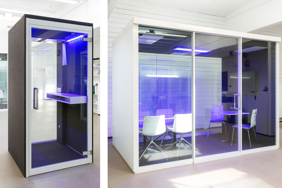 VetroSpace Phone Booths and Meeting Pods